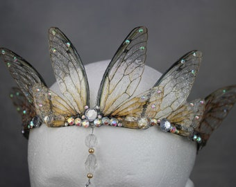 Enchanting and Ethereal Fairy Wing Fairy Queen/Bridal/Prom/Pagan Tiara/Crown/Headdress