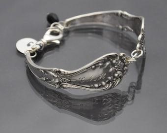 Sterling Silver Bracelet Antique Vintage Silverware Engraved with C M H