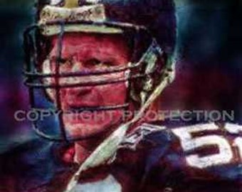 Rare Mike Webster Steelers Art Print only 50 11x18