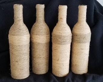 Twine Wrapped Wine Bottle