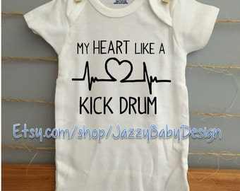 My Heart Like a KICK DRUM - Avett Brothers inspired Onsie