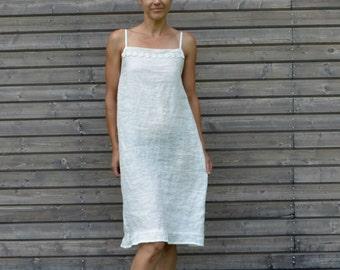 Linen slip dress, Linen Shirt Dress, Summer Dress,Nightdress,nightgowns