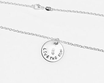 Love the Run Runner Charm Necklace .925 Sterling Silver Necklace