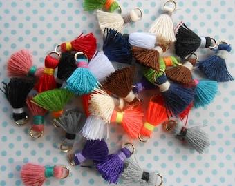 "Mini Tassels Assorted Colours 5/8"" lenght 12 pcs"
