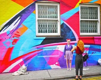 Street Art Photograph - London Print - Shoreditch Art - Chance Street - Fashion Photography - Mural