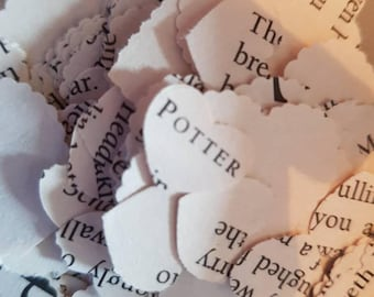 harry potter book page confetti 250 pieces