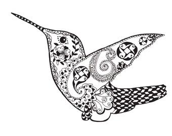 Hummingbird  bird download digital file print svg, png, eps,for cricut, silhouette cut file, vinyl decal