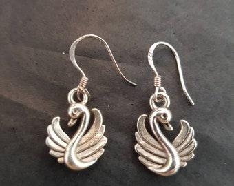 925 silver Dawlish Swan earrings