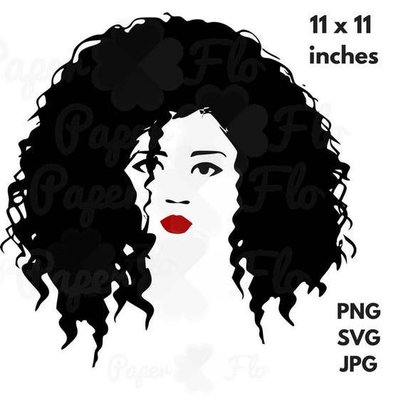 Natural hair SVG diva black woman clip art black ethnic svg