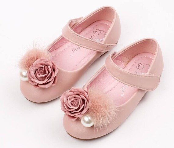 Pink girls shoes toddler flower girl shoes youth girl mightylinksfo Choice Image