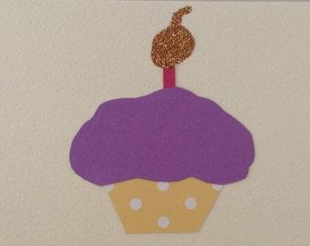Handmade Cupcake Note Card