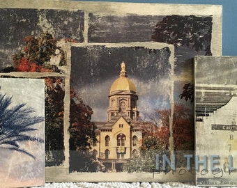 ANY PHOTO - Wood Photo Transfer - Choose the Size, Add Text - Fine Art Photography, Home Decor, Man Cave, Vintage Distressed Wall Art