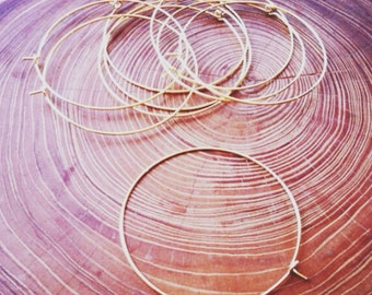 gold finish hoops earwire 45mm - 10 pieces - destash