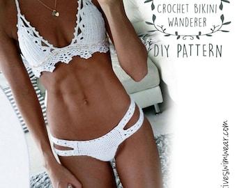 Crochet Bikini Pattern - How to make Crochet swimwear - how to make crochet bikini