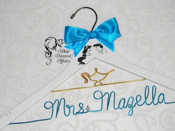 Jasmine & Aladdin Themed Wedding Hanger Disney Princess