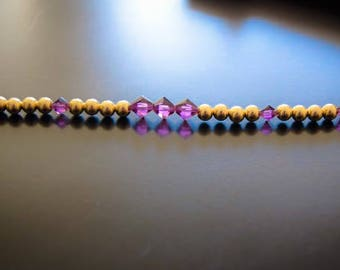 Gold filled beaded bracelet with Swarovski beads