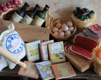 Dollhouse miniature 6 cooking books