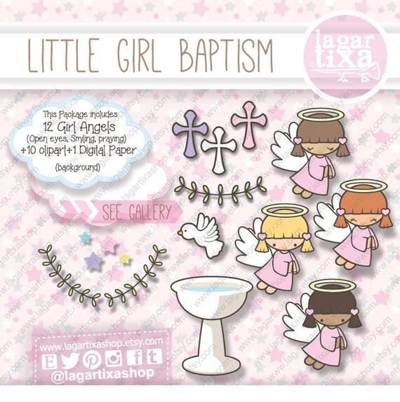 Baptism Clip art Pink Purple Little Angels Latin Afroamerican