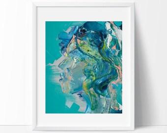 Abstract art print, mermaid art, colourful wall art, modern art, wall art, fine art prints, contemporary art, abstract painting, art prints