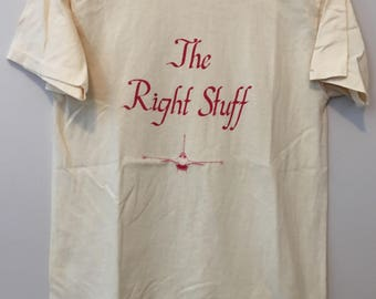 The Right Stuff 80's t-shirt - Large - Navy Air Force - USA