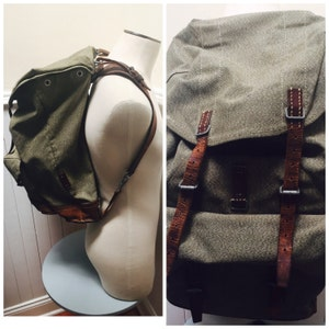 Vintage 1965 Salt & Pepper Swiss Military Army Backpack/Rucksack