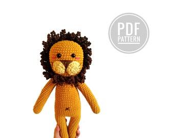 Crochet pattern  - Erik the lion - amigurumi lion - woodland - zoo - jungle animal - stuffed animal - plush lion - knitted lion - pdf