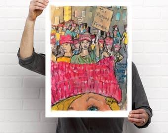 Women's March NYC 2018. daiZnyc Original Print