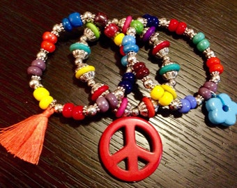 Colorful stacking bracelets