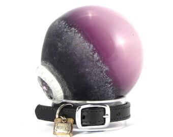 Pet Memorial Cremation Ash  - Unique Blown Glass Jewelry made w/ Ashes - Majestic Purple
