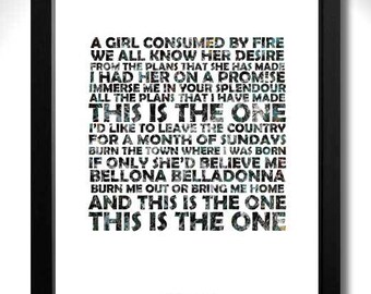 THE STONE ROSES - This Is The One - Limited Edition Unframed A4 Art Print with Lyrics