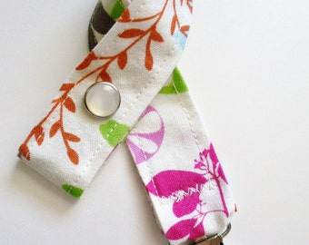 Enchanted and Happy - Pacifier Binkie Clips Set of 2 - OR Design Your Own - 64 Fabric Choices - Pacifier Toy Rattle
