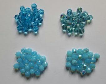 Glass beads faceted Czech glass beads, 8 x 15 mm Czech glass beads