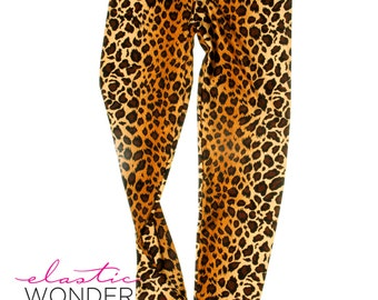 Leopard Grandient Printed Spandex Leggings