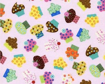 Cupcakes Pink Half yard cut, by Linda Solovic-Timeless Treasures.
