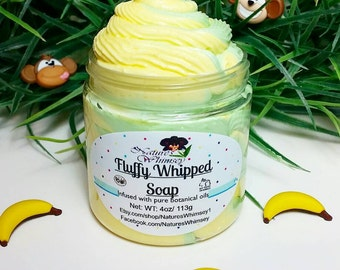 Fluffy Whipped soap Monkey Fart, Whipped soap, Whip soap, kids soap, Moisturizing, Tropical, Banana scented, Party Favors, Whipped Bath Soap