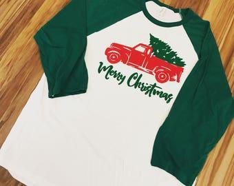 Merry Christmas Farm Truck