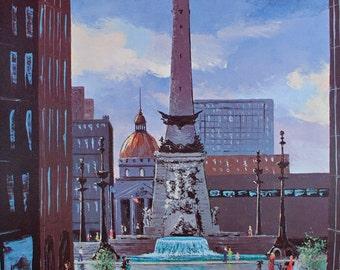 INDIANAPOLIS, Indianapolis Circle, Indianapolis Print, Home Decor, Art Print, Wall Decor, Wall Art, Poster, Office Decor, Indiana, Skyline