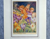 Crocus Flower Fairy Vinta...