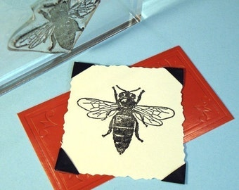 Bee Clear Polymer Rubber Stamp
