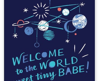 Welcome to the World, Sweet Tiny Babe • single card