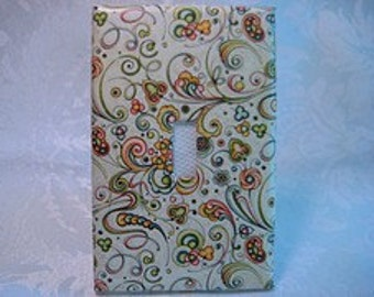 Cool, Swirly Light Switch Plate Cover