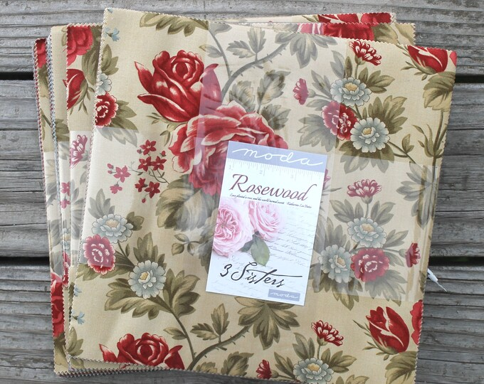 "Rosewood by 3 Sisters for Moda Layer Cake 10"" Squares"