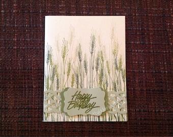 Masculine Happy Birthday card, birthday card for farmer, birthday card for gardener  B6-3