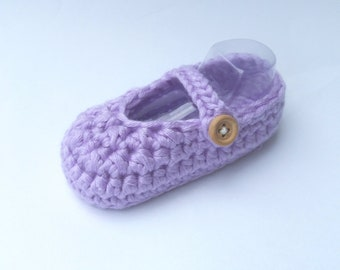 BABY BOOTIES: Baby Shoes, Mary Jane Shoes (Crochet)