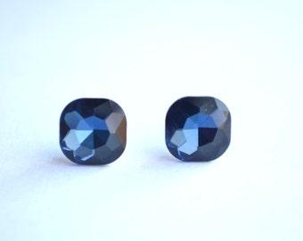 Coco - Blue Crystal Bridesmaid Studs