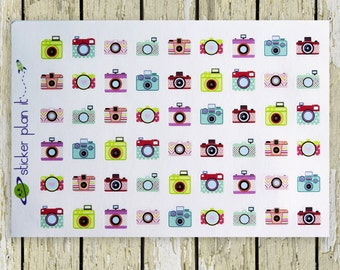 CAMERA PHOTOGRAPHY Planner Stickers!!!! Set of 54, Perfect for the Erin Condren or Plum Paper Planner!