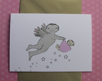 Congratulations on Your Baby Girl Sloth Card