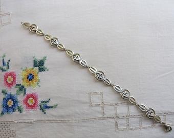 Vintage silver Glasgow Rose panel bracelet