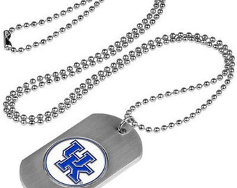 Kentucky Wildcats Stainless Steel Dog Tag Necklace