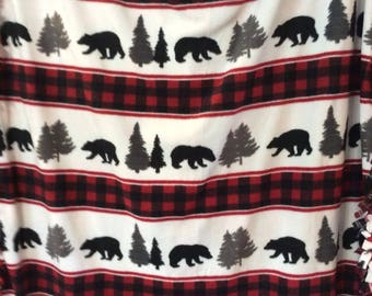 Adirondack tie blanket
